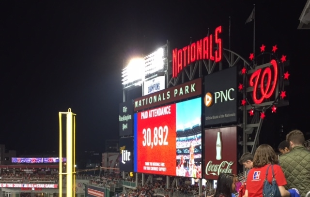 Students celebrate AU Night at Nationals Park